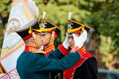 MOSCOW, RUSSIA - SEPTEMBER 02, 2017: Day of the Russian Guard. Royalty Free Stock Image