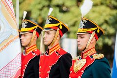 MOSCOW, RUSSIA - SEPTEMBER 02, 2017: Day of the Russian Guard. Royalty Free Stock Photos