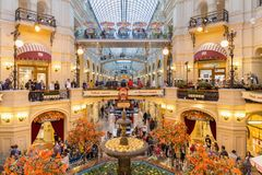 Inside GUM department store in Moscow Stock Photography
