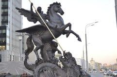 The monument to Mikhail Kalashnikov royalty free stock images
