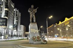 The monument to Mikhail Kalashnikov Royalty Free Stock Photos
