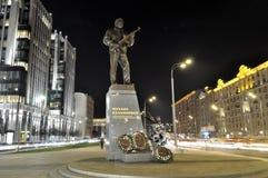 The monument to Mikhail Kalashnikov royalty free stock photos