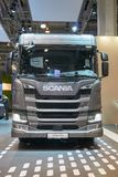 Scania truck at auto show Stock Photos