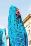 Festivities in honor of the birthday of the 870th anniversary of. Moscow, RUSSIA - September 10, 2017: sports and games on Tverskaya street. Festivities in honor Stock Photo