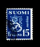 Coat of arms, Model 1930 Lion serie, Finland circa 1950 Stock Photos