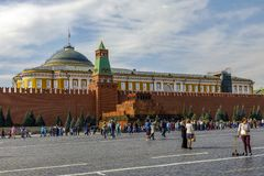 Lenin`s mausoleum Red Square in Kremlin royalty free stock photo