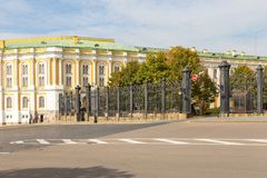 View of the Grand Kremlin Palace, Moscow, Russia. royalty free stock photography