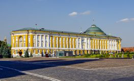 Palace of the Senate. The Kremlin wall. Putin`s residence. stock image