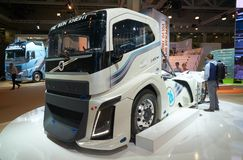Volvo truck at auto show Royalty Free Stock Photos