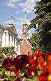 moscow russia spasskayatorn Royaltyfri Bild