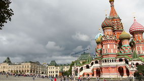 Moscow, Russia. St. Basil Cathedral, Red Square, Moscow stock video footage