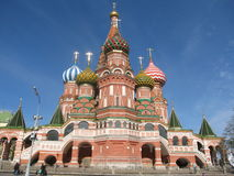 Moscow, Russia, St.Basil's (Pokrovskiy) cathedral Royalty Free Stock Photography
