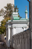 Moscow, Russia - 09.21.2015. Starovagankovsky alley and temple of St. Nicholas Stock Image
