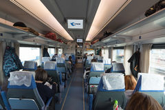 Moscow, Russia -07.11.2015. Striz -speed train from Moscow to Nizhny Novgorod Stock Photos