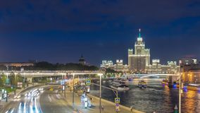 Moscow Russia time lapse stock video footage