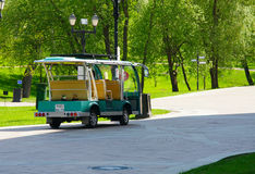 Moscow, Russia. 12.05.2014 . Tour electric car with chauffeur pa Stock Photos