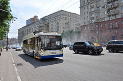 MOSCOW, RUSSIA - 15.06.2015. Traffic on the Garden Ring. Sadovoe koltso -circular main street in central Moscow. Stock Photography