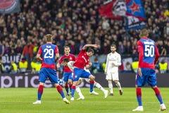 The UEFA Champions League game at Luzhniki stadium, CSKA - Real Madrid. royalty free stock photo