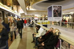 MOSCOW, RUSSIA underground shopping center Okhotny Ryad Stock Image