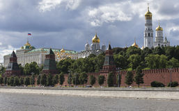 Moscow, Russia, view on river and Kremlin Stock Images