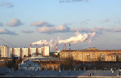 Moscow, Russia, working power station Stock Photos