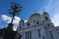 The Cathedral of Christ the Savior, Moscow, Russian federal city, Russian Federation, Russia. Moscow, 26/04/2017: view of the Cathedral of Christ the Saviour Stock Photography