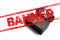 MOSCOW, RUSSIAN FEDERATION - May 24, 2019: After Trump administration add Huawei to a trade blacklist, Google has suspended busine stock photography