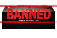 MOSCOW, RUSSIAN FEDERATION - May 24, 2019: After Trump administration add Huawei to a trade blacklist, Google has suspended busine. Ss with Huawei. Concept royalty free stock photography