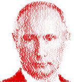 MOSCOW, RUSSIAN FEDERATION - YEAR 2017 - Portrait of Vladimir Putin Stock Image