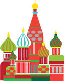 Moscow russian onion dome illustration Stock Photography