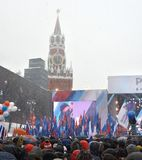 moscow Ryssland 02/03/2018 Årlig konsert Arkivfoton