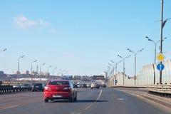 Tredje transport ringer av Moscow Royaltyfri Foto
