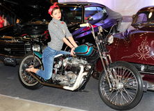 MOSCOW RYSSLAND, - MARCH-02-2013: 10th Landskampmotorcykel E Royaltyfria Foton