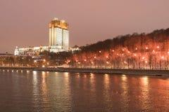 moscow Ryssland Vinter snö-täckt stadslandskap Royaltyfria Foton