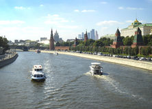 moscow rzeka Obrazy Stock