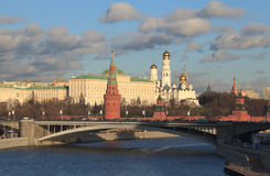 Moscow's Kremlin cityscape. View of the Kremlin from Moscow River Stock Image