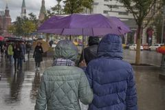 Moscow`s rain Stock Images