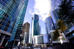 Moscow's skyscrapers Stock Photos