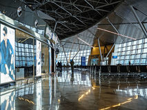 Moscow's Vnukovo Airport Departure Lounge Royalty Free Stock Photo