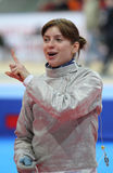 Moscow Saber World Fencing Tournament Royalty Free Stock Image