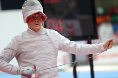 Moscow Saber World Fencing Tournament Stock Photo