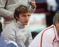 Moscow Saber World Fencing Tournament Royalty Free Stock Images