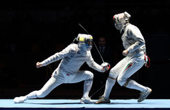 Moscow Saber World Fencing Tournament stock photography