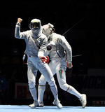 Moscow Saber World Fencing Tournament Royalty Free Stock Photos