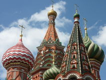 Moscow Saint Basil's Cathedral. Detail of Saint Basil's Cathedral in Moscow, Russia Royalty Free Stock Image