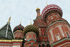 Moscow. Saint Basils Cathedral. Stock Photos