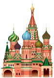 Moscow Saint Basil`s Cathedral Stock Image