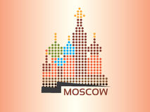 Moscow - Saint Basils Cathedral. Dotted style illustration Royalty Free Stock Image