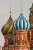 Moscow Saint Basils Cathedral kupola Stock Image