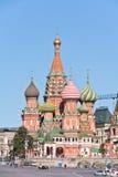 moscow Saliggörande tempel av Vasiliy (Pokrovsky är en domkyrka), Royaltyfria Foton